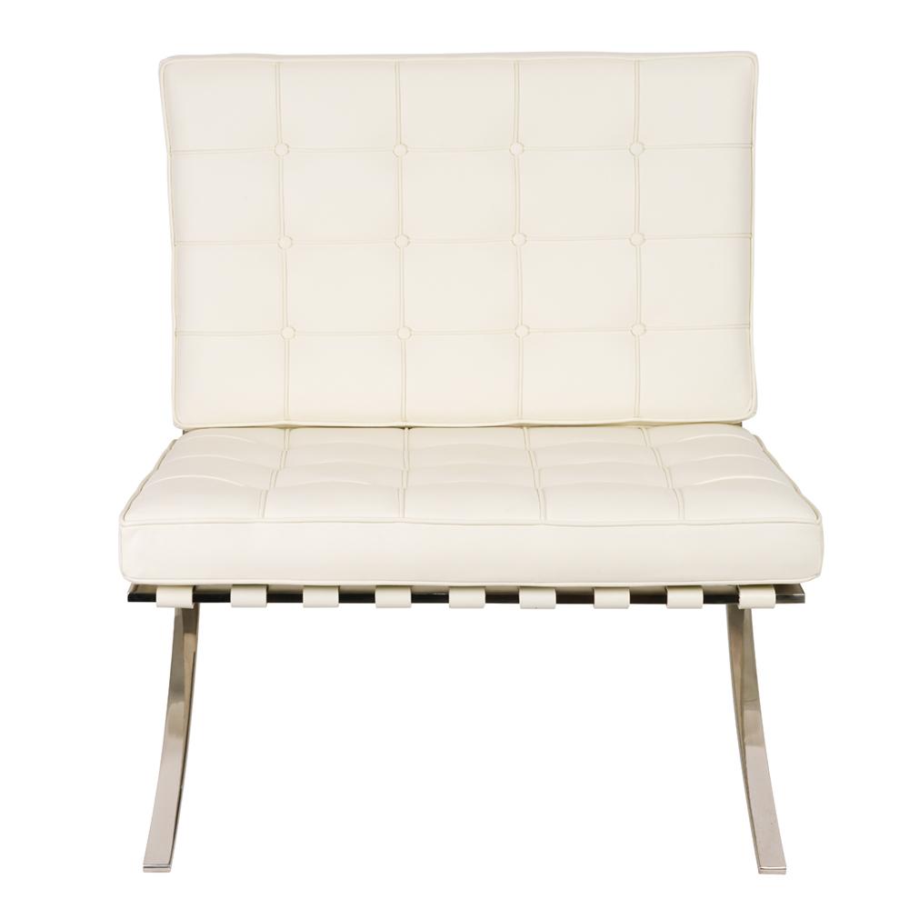 Кресло Barcelona Style Chair белое - вид 2