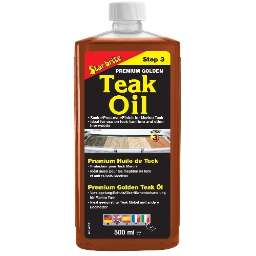 Premium Golden teak oil (Step 3)