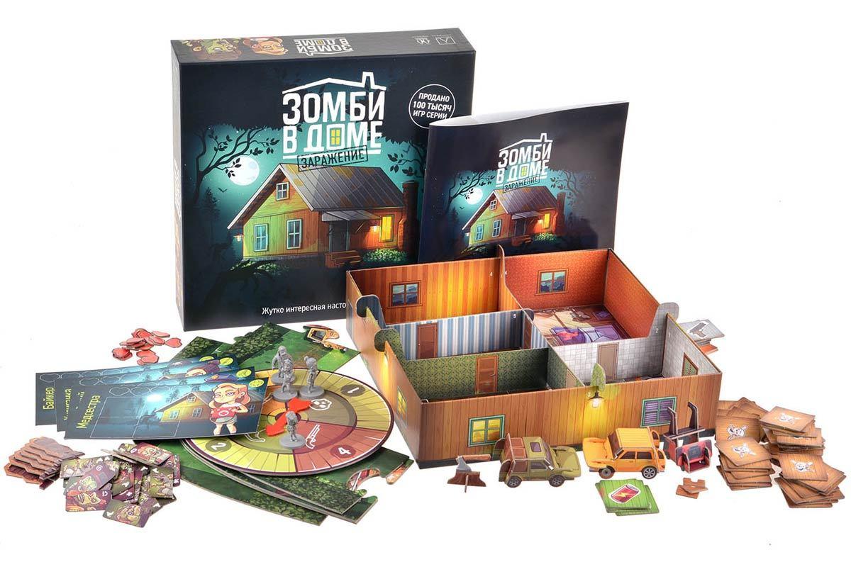 Настольная игра Зомби в доме. Заражение - комплектация