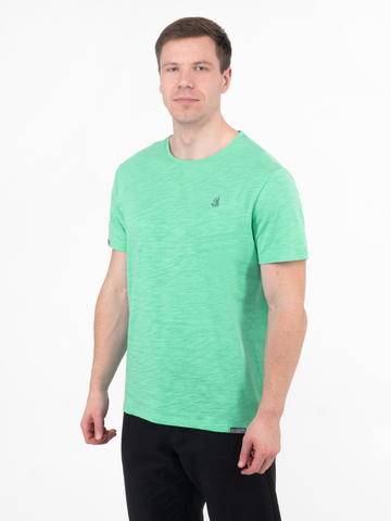 Мужская футболка «Великоросс» мятного цвета круглый ворот