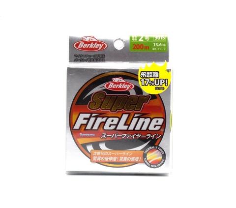 Плетеная леска Berkley Super Fireline Ярко-зеленая 200 м. 2 РЕ 13,6 кг. Chartreuse (Японский рынок) (1324480)