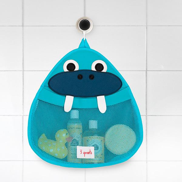 Органайзер для ванной 3 Sprouts Морж (синий)