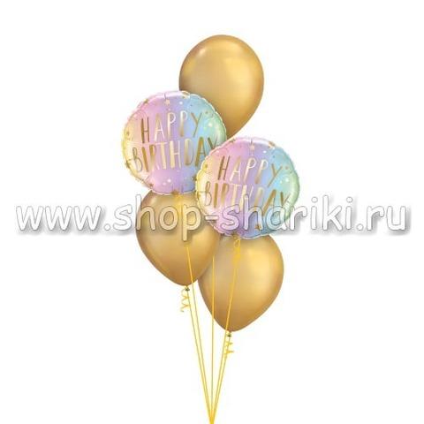 фонтан из шаров на день рождения блестящий неон