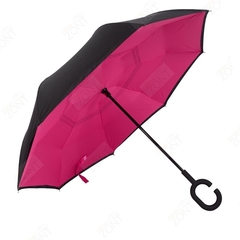 Обратный зонт наоборот малиновый механический