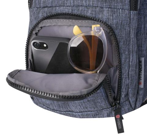 Картинка рюкзак однолямочный Wenger  синий - 8