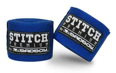 Бинты Bad Boy Stitch Premium Hand Wraps - Blue 5m