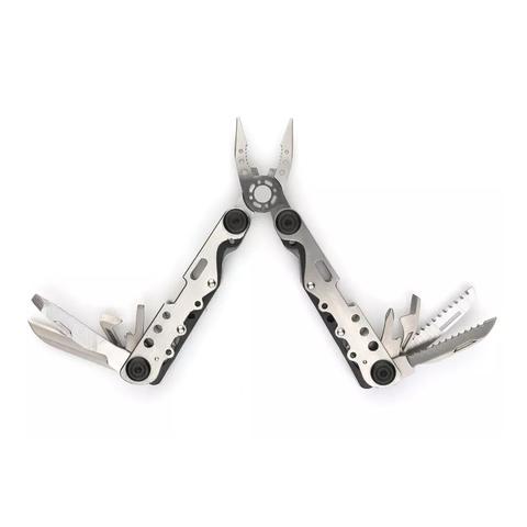 Мультитул Stinger, серебристо-черный, 13 инструментов, нейлоновый чехол