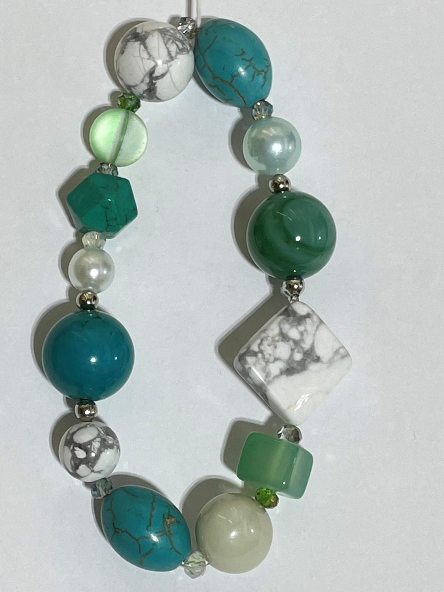 8006-бирюза (браслет из натуральных камней)