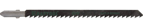 Полотна KRAFTOOL, T301CD, для эл/лобзика, Cr-V, по дереву, ДСП, ДВП, чистый рез, EU-хвост., шаг 4мм, 110мм, 2шт