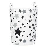 Тканевая корзина для игрушек Black Stars черные звезды