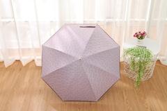 Женский облегченный зонт-трость, с защитой от УФ, ветрозащитный, 8 спиц, (сиреневый)