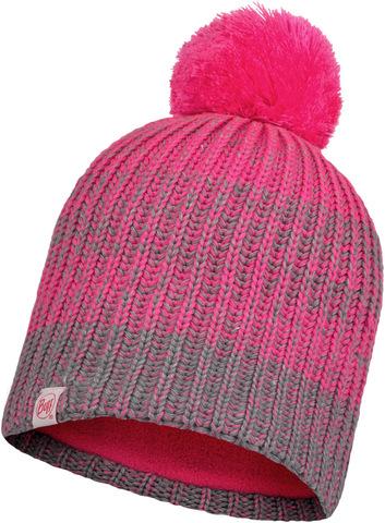 Шапка вязаная с флисом детская Buff Hat Knitted Polar Gella Pump Pink фото 1