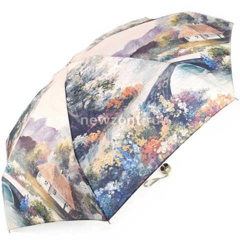 Складной мини зонт TRUST «Домик у моста» в стиле импрессионизма