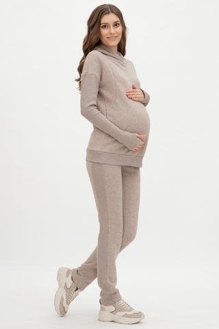 Утепленный спортивный костюм для беременных и кормящих 12079 какао