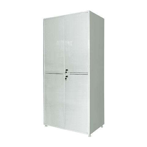 Шкаф металлический двухсекционный двухдверный МСК - 648.01 - фото