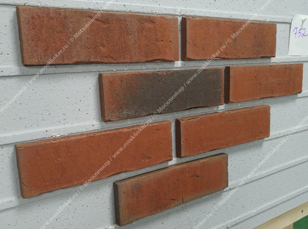 Feldhaus Klinker - R752NF14, Vascu Ardor Carbo, 240x14x71 - Клинкерная плитка для фасада и внутренней отделки