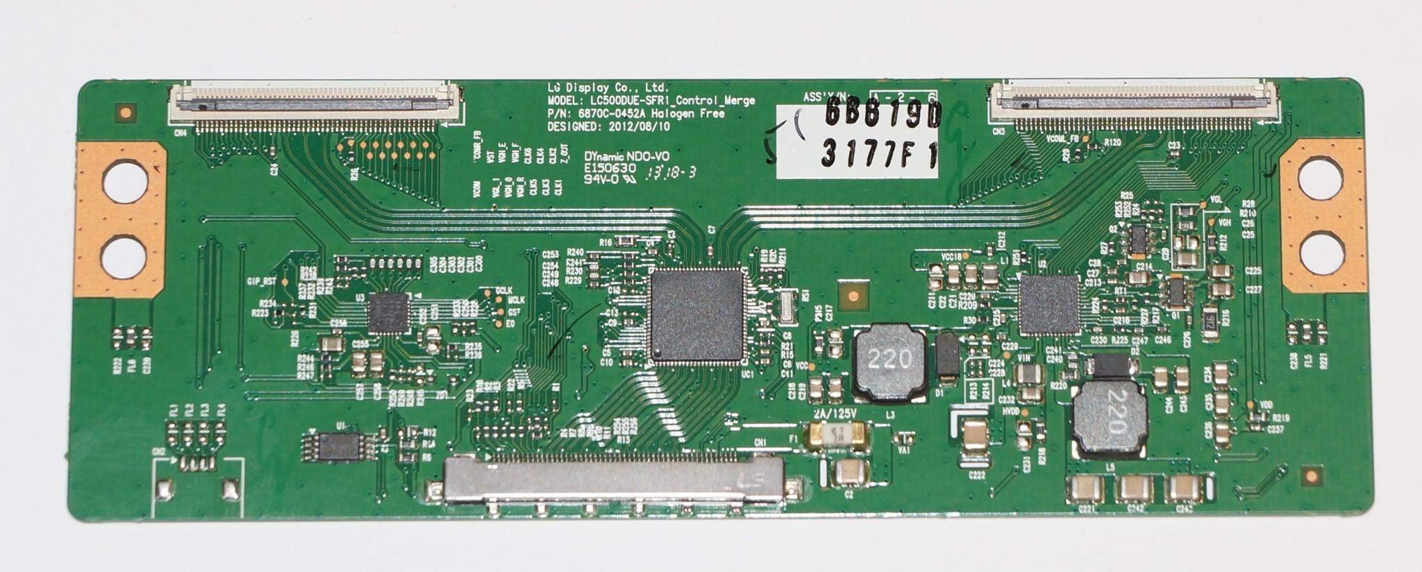 T-con 6870C-0452A model LC500DUE-SFR1 телевизора LG