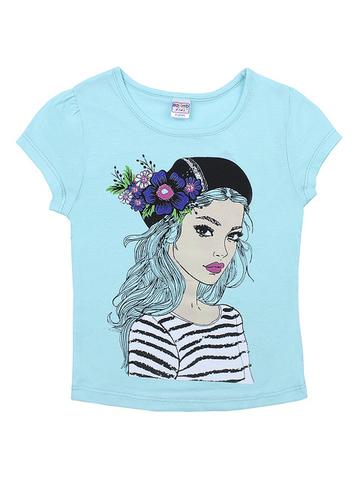 BK002F-53 футболка для девочек, ментоловая