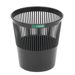 Корзина для мусора Стамм 9 л пластик черная (25.5х26 см)