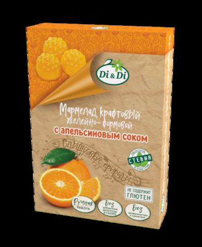 Мармелад крафтовый с Апельсиновым соком, 155гр. (Ди энд ди)