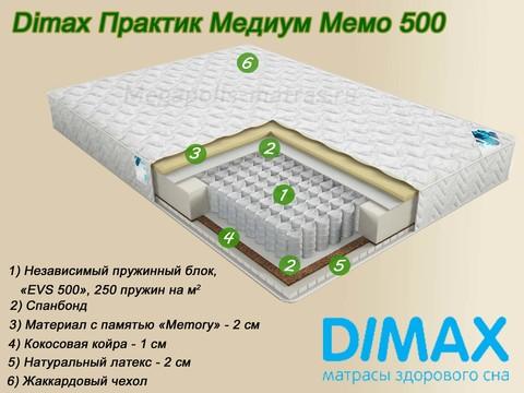Матрас Dimax Медиум Мемо 500 от Мегаполис-матрас