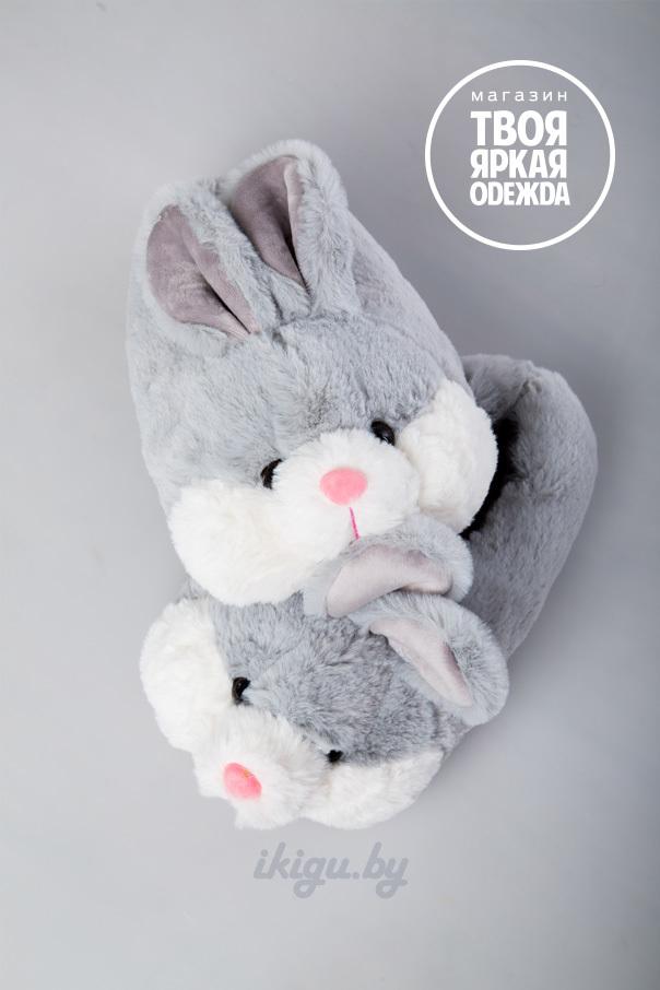 """Тапочки Тапочки """"Кролики Серые"""" zaiac-gray.jpg"""