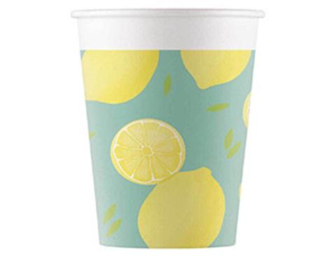 Стакан бум Лимоны 200мл 8шт/P
