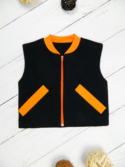 Жилет 3141, черно-оранжевый
