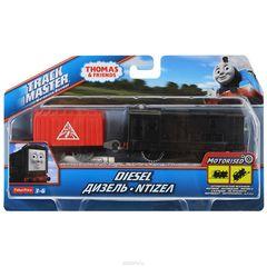 Fisher Price Моторизованный паровоз ДИЗЕЛЬ с прицепом из серии Трекмастер (BMK88-3)