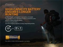 Фонарь светодиодный Fenix PD36R, 1600 лм, аккумулятор