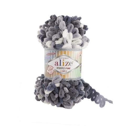 Пряжа Alize Puffy Fine Color цвет 5925