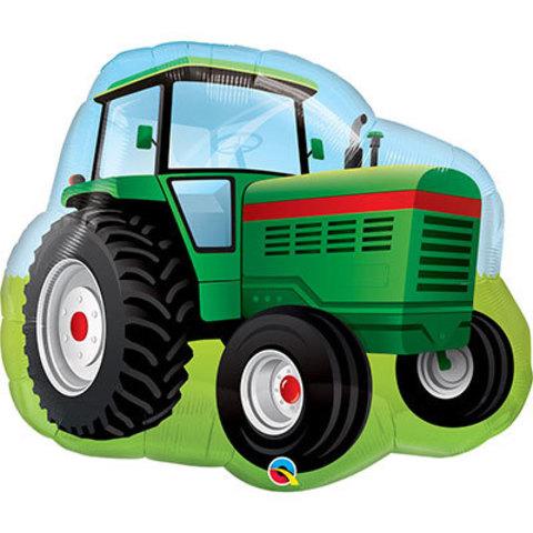 Шар фигура Трактор зеленый