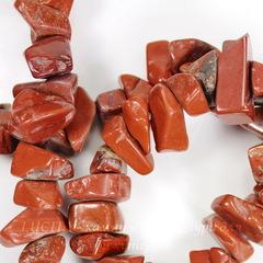 Бусина Яшма Красная, крошка, 7-20 мм, нить
