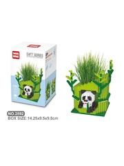 Конструктор Wisehawk Панда с растением 545 деталей NO. 2592 Panda with plant Gift Series