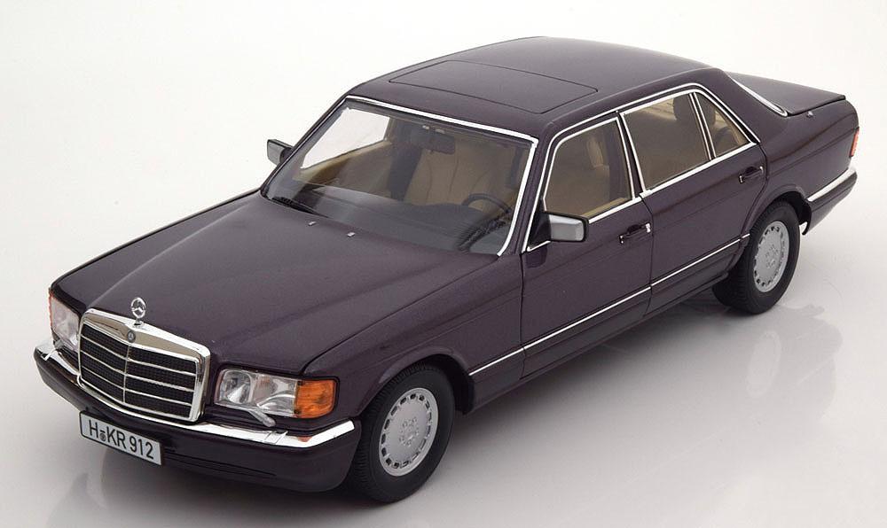 Коллекционная модель Mercedes-Benz W126 560 SEL 1991 Purple Metallic