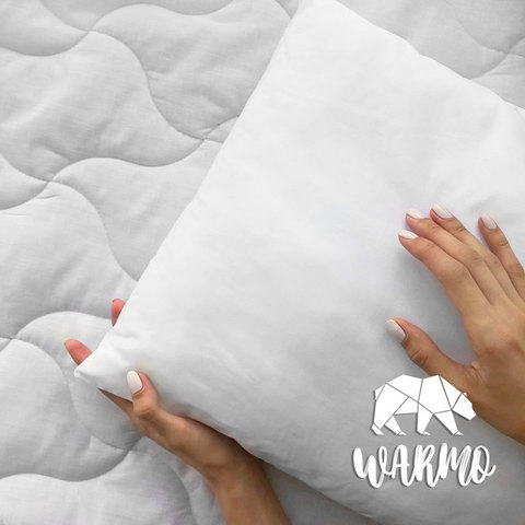 фото Комлект Ковдра + Товста подушка в дитяче ліжечко (Італійський батист + Штучний лебединий пух/Мікроволокно)