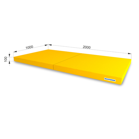 РОМАНА Мягкий щит (Мат) 1000*2000*100, в 2 сложения (желтый)