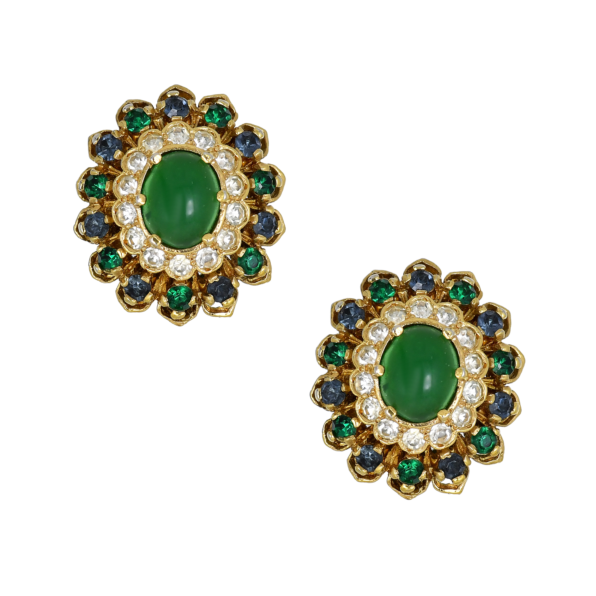 Collectible clip-on earrings from Panetta. 1960s – 70s