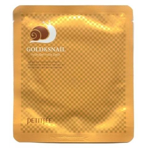 Petitfee Маска для лица гидрогелевая с золотом и муцином улитки Gold & Snail Mask Pack