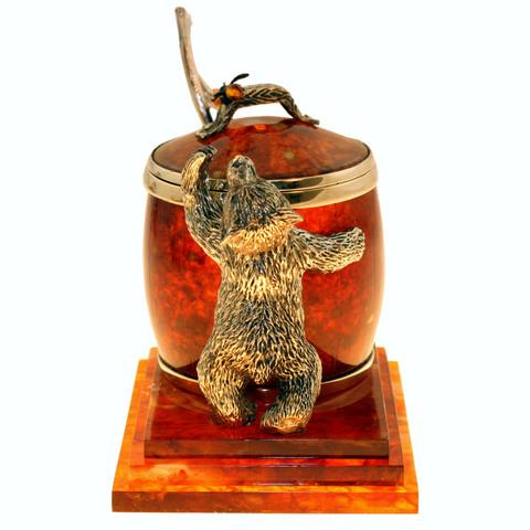 Сахарница из янтаря «Медовый медведь»