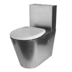 Унитаз напольный антивандальный с бачком с сиденьем Тругор УнсбА фото