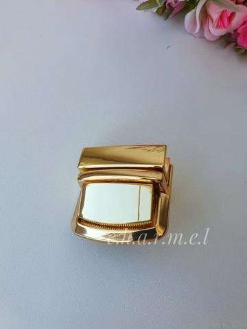 Замок портфельный 35*35 мм, золото, на винтах