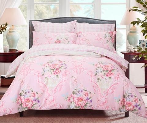 Сатиновое постельное бельё  2 спальное  В-185
