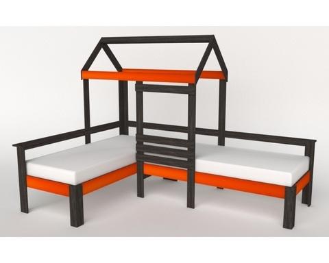 Кровать-домик АВАРА-2 правая 1700-700 /2552*1800*1832/