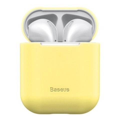 Чехол для Airpods Baseus Ultrathin Series Silica Gel Protector for Airpods 1/2 Yellow