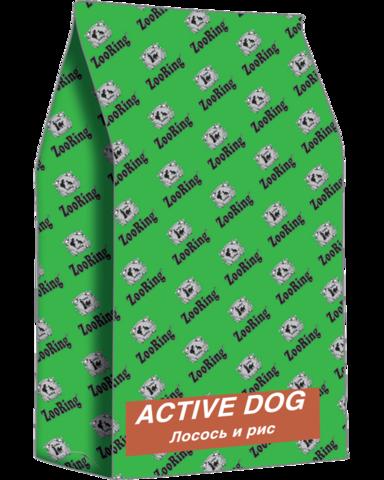 ЗООРИНГ ACTIVE DOG Лосось и рис. 26/15, 20 кг.