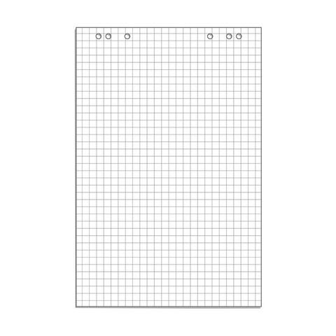 Бумага для флипчартов Attache 67.5х98 см белая 10 листов в клетку (80 г/кв.м)