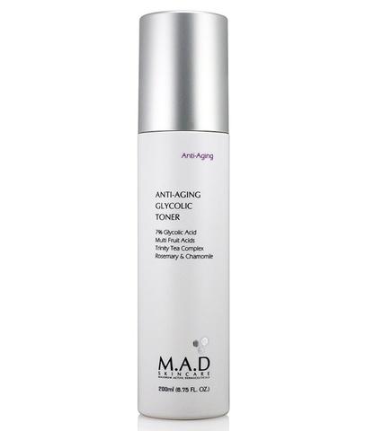 Тоник с 7% гликолевой кислотой предотвращающий старение кожи M.A.D Skincare Anti-Aging Anti Aging Glycolic Toner, 200 мл