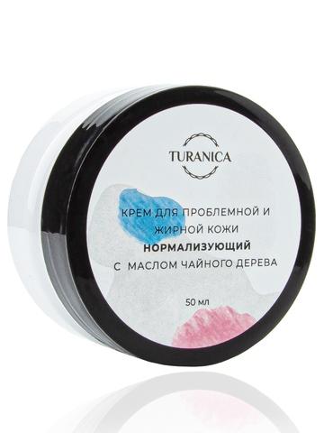 Крем для проблемной и жирной кожи Turanica Нормализующий с маслом чайного дерева