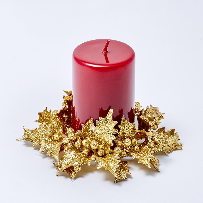 Праздничный венок для свечи
